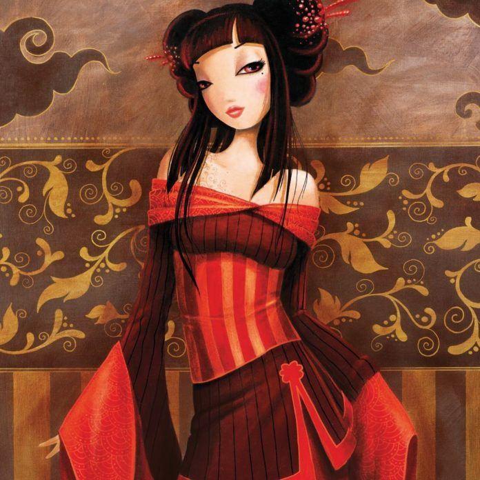 asian woman dress beautiful feminine lady women fine art oil painting sexy lovely