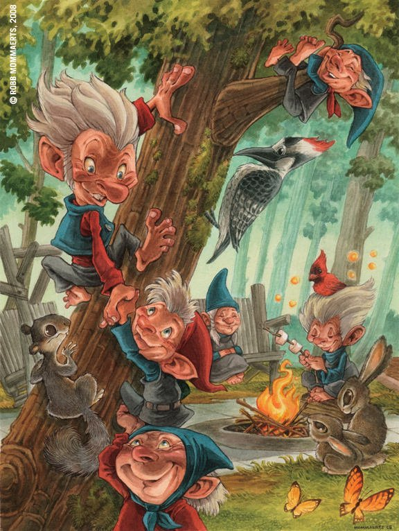 cute troll character design fairies pixies elves photoshop digital art design illustration funny humor