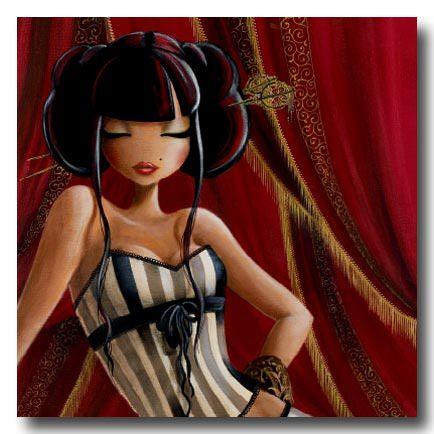 fine art oil painting woman in striped corset fancy lady women feminine beautiful character design