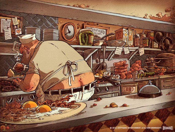 greasy spoon kitchen discworld terry pratchett character comic illustration art digital photoshop funny humor