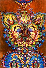 louis wain artist descent into madness schizophrenia art illustration mental health disorder