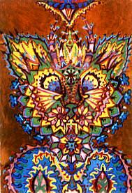 louis wain artist descent into madness schizophrenia art illustration mental health disorder