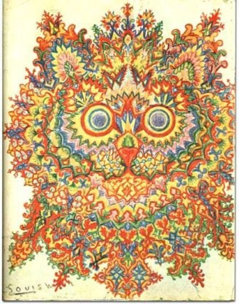 The Schizophrenic Psychadelic Art of Louis Wain