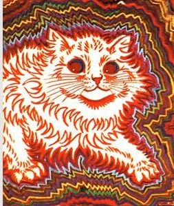 louis wain schizophrenia art illustration cat painting mental health disorder