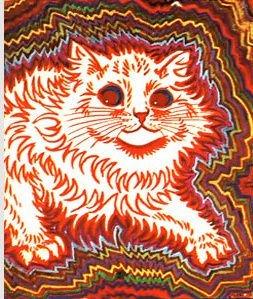 louis wain schizophrenia art illustration cat painting mental health disorder