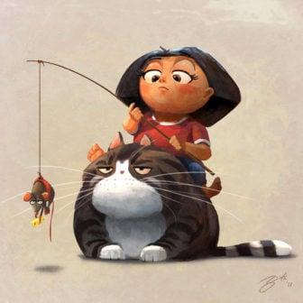 Funny Character Paintings by Goro Fujita