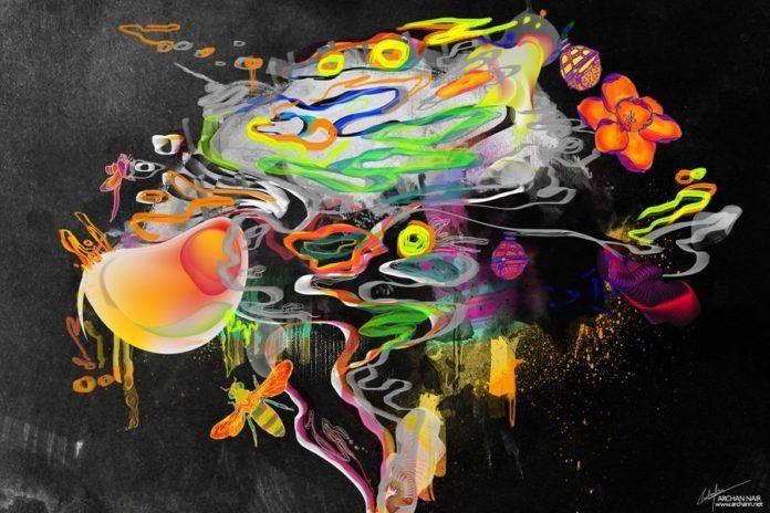 abstract digital art photoshop painting design digital shape color vector splatter brush
