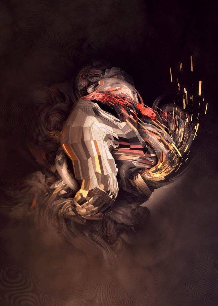 An abstract Photoshop painting by digital artist Nik Ainley