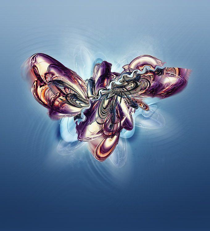 Digital Artist Nik Ainley paints an abstract surrealist butterfly in Photoshop