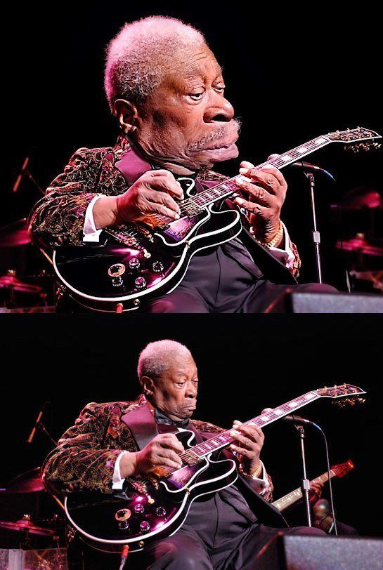 bb king music art jazz guitar funny photoshop caricature digital face morph fan art before and after