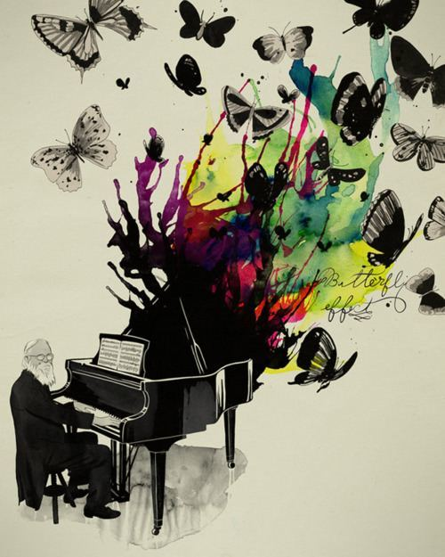 butterfly effect piano music art inspiration design illustration drawing painting