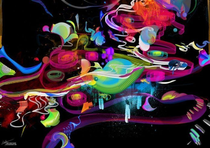 colors shapes digital art abstract design photoshop painting