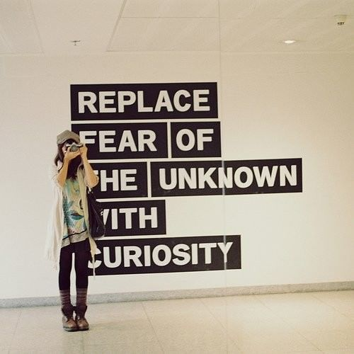 curiosity life quote advice picture image photography fear of the unknown curious