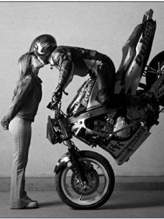 cute kiss motorbike wheelie romance relationship inspiration motivation love life picture image