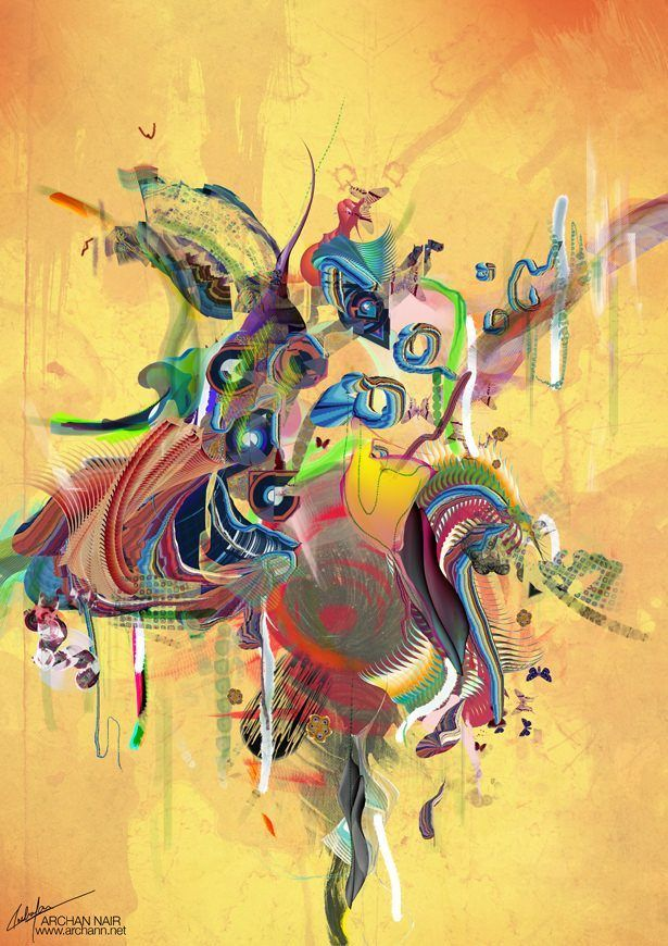 digital art abstract photoshop painting splash splatter