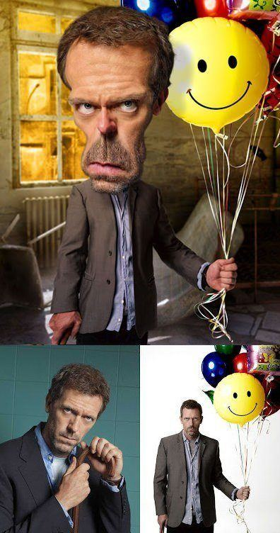 dr house pike photoshop caricature digital art photo image manipulation funny humor before and after