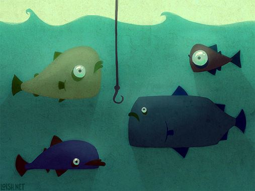 fish digital art underwater cartoon photoshop painting cute sea animal funny design