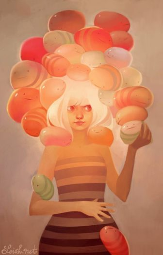 Cute Photoshop Paintings by Lois van Baarle