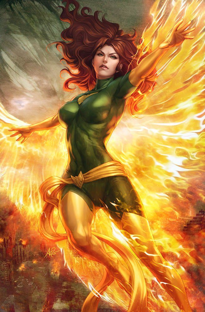 jean grey phoenix sexy superhero x man comic book hot girl photoshop illustration digital design