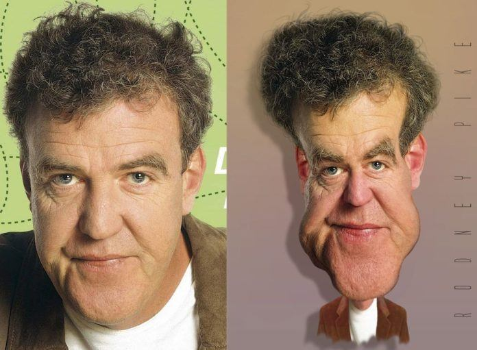 jeremy clarkson top gear pike photoshop caricature funny digital art humor face morph before and after