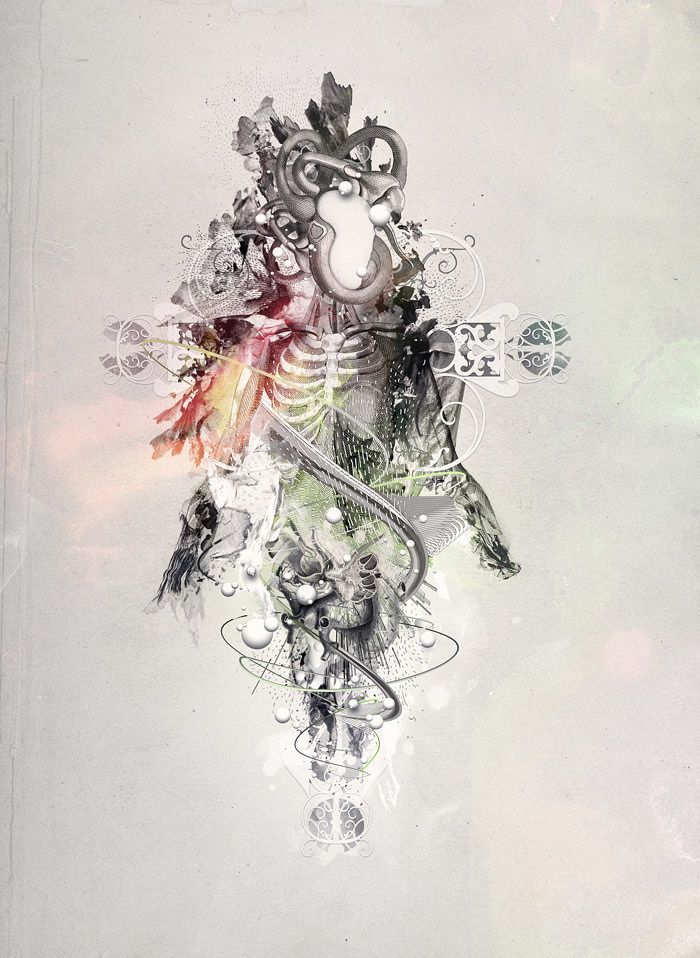 The abstract digital art of nik ainley design mayhem for Body movement drawing