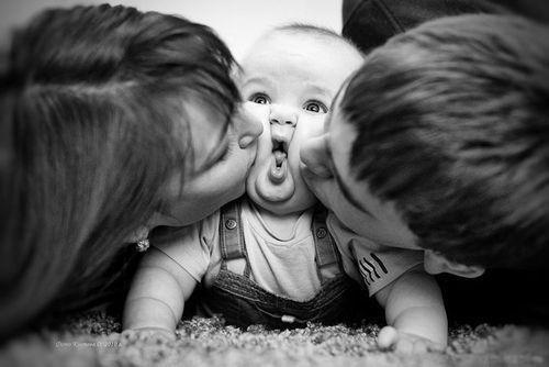 love family relationships parents baby cute kiss surprise photo image inspiration motivation