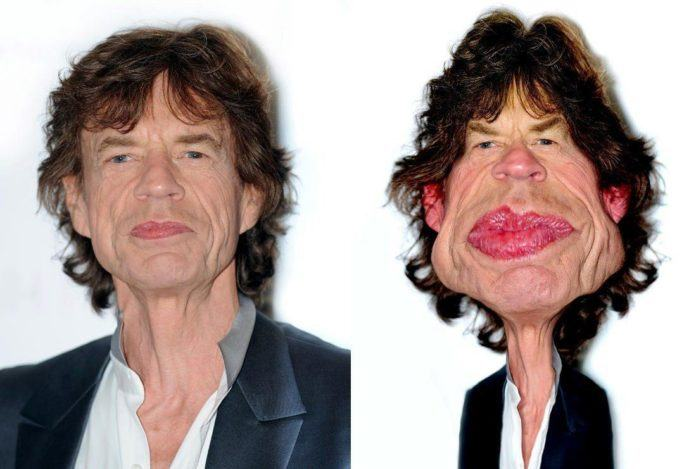 mick jagger rolling stone pike caricature funny photoshop digital art face morph before and after