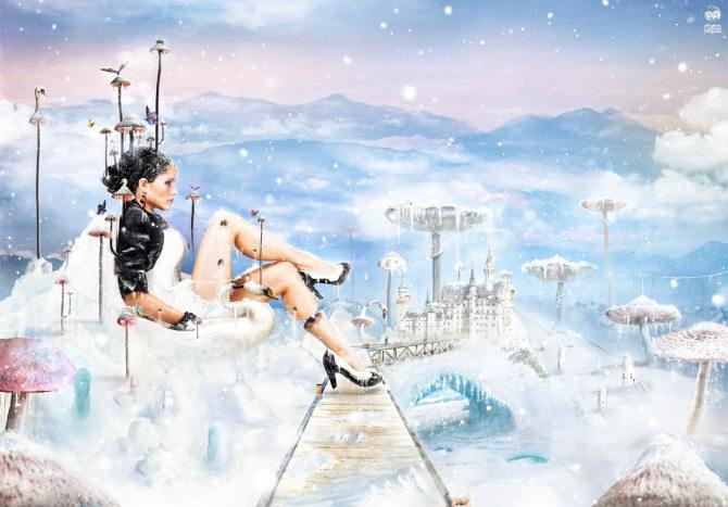 mother christmas photoshop image manipulation digital art design woman sexy snow arctic ice