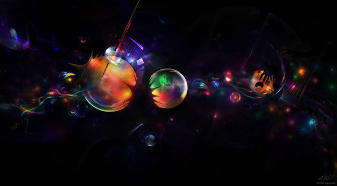 music art spheres bubbles space surreal graphic design photoshop illustration digital