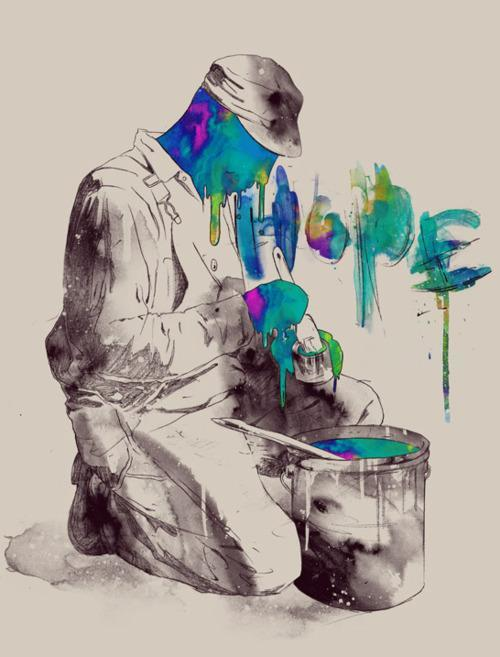 paint your dreams hope art illustration portrait drawing painting design