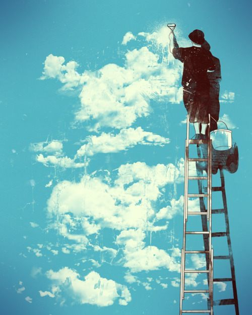 painting clouds graffiti art inspiration design drawing life