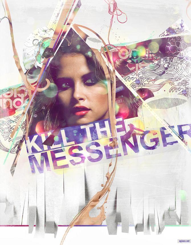 photoshop art illustration digital design kill the messenger woman portrait graphic photograph