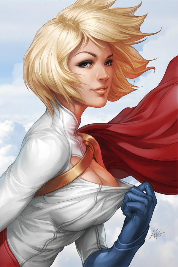power girl hot day sexy superhero comic book design photoshop illustration digital art