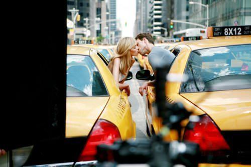 romance relationships girl boy kiss sweet taxi city love inspiration photo poster picture