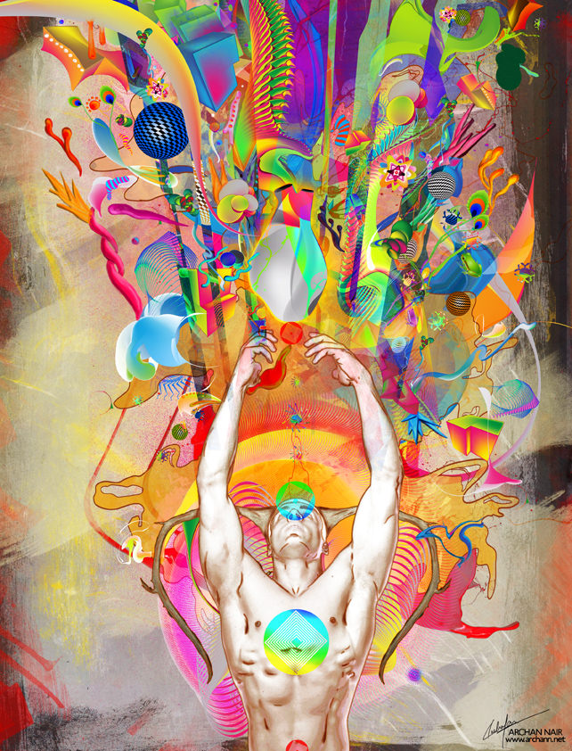 spiritual photoshop painting digital art design man nude shapes colors ethereal