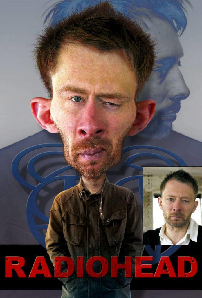 thom yorke radiohead pike photoshop caricature digital art face morph image photo manipulation before and after