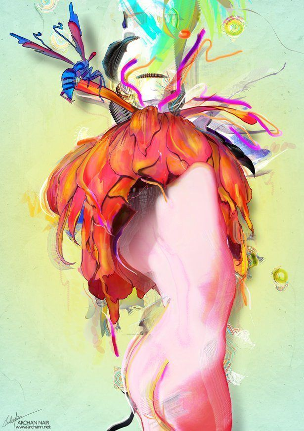 woman nude art female body imagination creativity surrealism abstract collage photoshop painting digital art