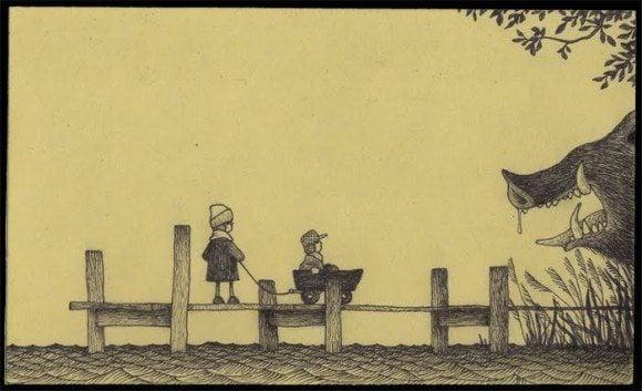 children monster board slobber john kenn horror illustration beast creature