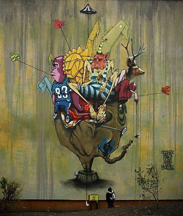 graffiti street art poland collaboration vandalism creativity styles animal surreal