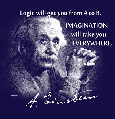 logic will take you from a to b einstein life quote picture image photo advice imagination creativity inspiration motivation