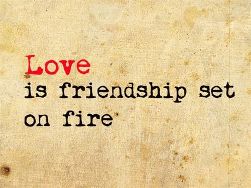 love is friendship set on fire relationship life advice picture image quote emotion