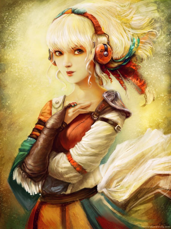 manga girl painting portrait if cartoons were real art illustration cute