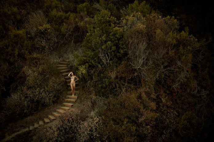 megan morrison jeremy cowarts photography beautiful woman stairs nature surreal artistic photo life