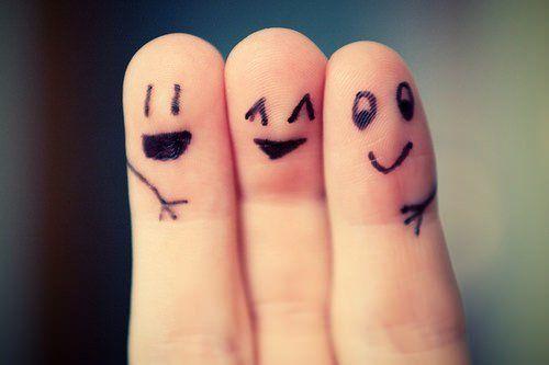 smile hug friends relationship cuddle finger painting cute inspiration motivation image picture