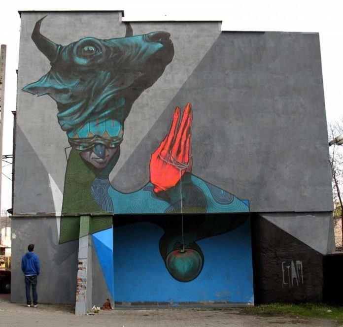 surreal graffiti poland street art urban wall painting inspiration modern vandalism