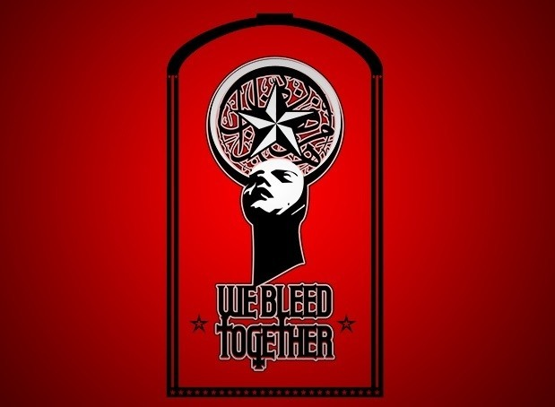 A Photoshop t-shirt design by Riyaan Shinjuku Wiener called We Bleed Together