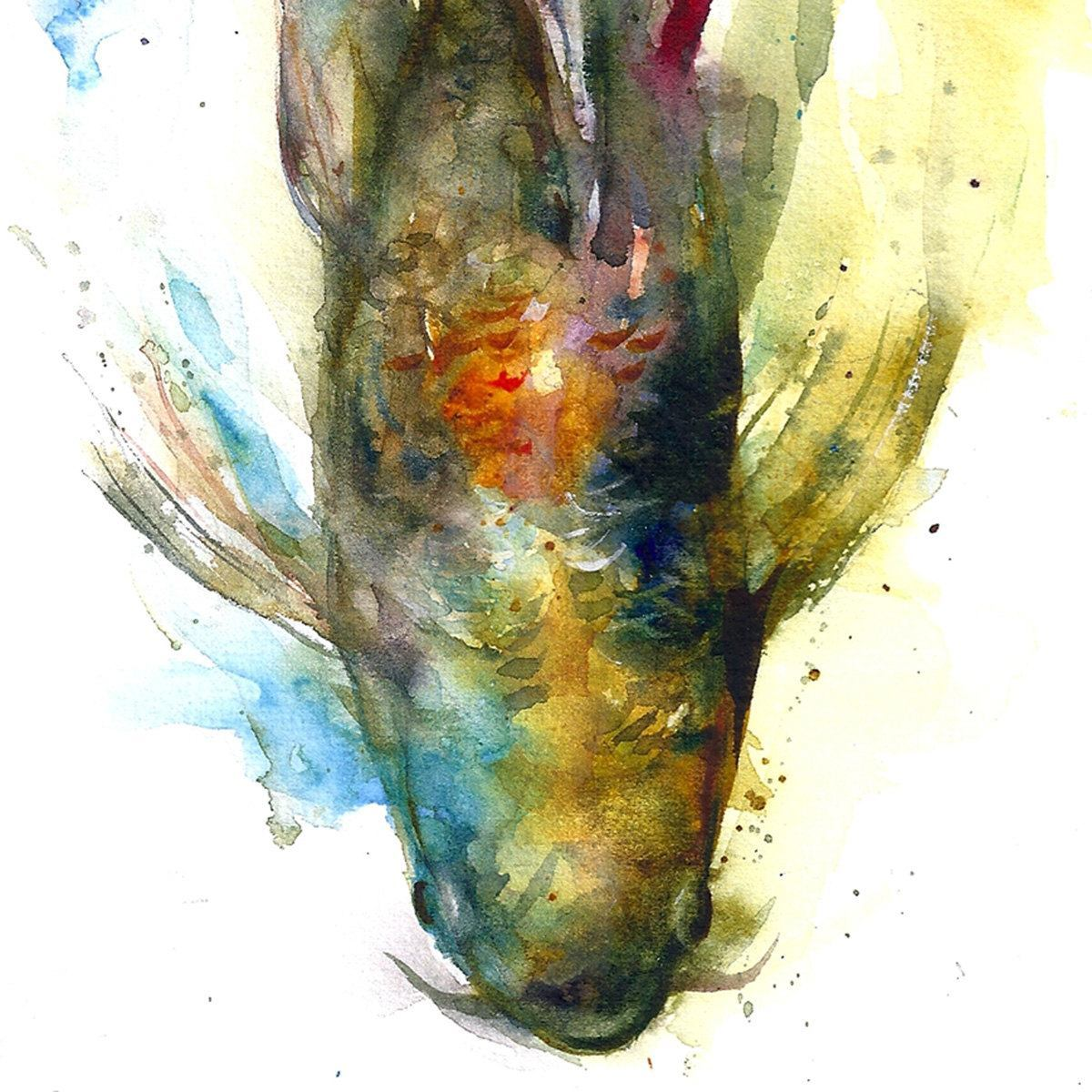 Dean crouser s wild and splashy paintings art for Watercolor fish painting
