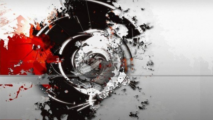 A digital Photoshop abstract painting of the visual effect of sound by Riyaan Shinjuku Wiener