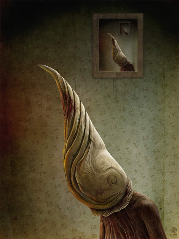 Photoshop horror painting by the digital master of the macabre Anton Semenov, mutations