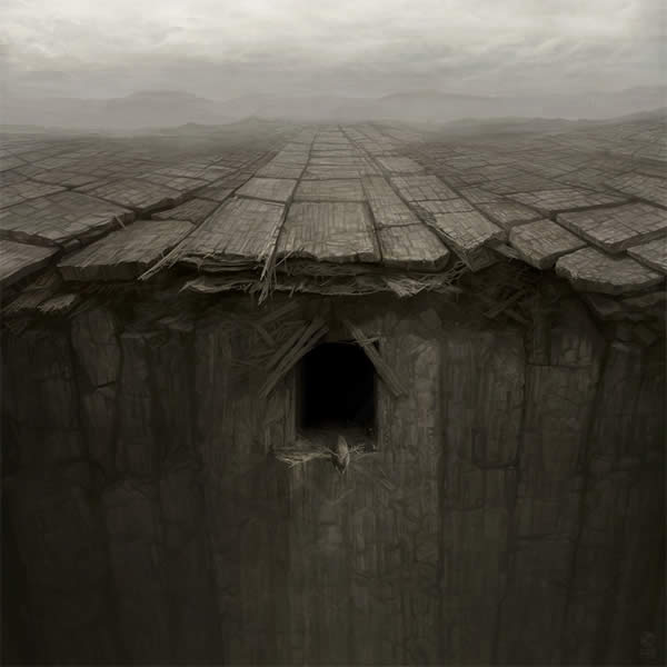 Photoshop horror painting by the digital master of the macabre Anton Semenov, the cruelest cage.